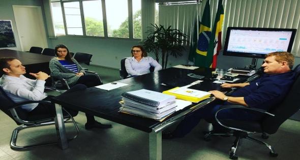 Visita do Chefe Regional da Secretaria de Justiça e Trabalho