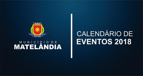 Calendário Anual de Eventos 2018