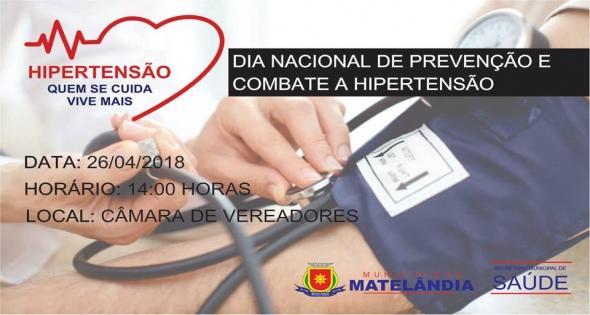 Dia Nacional de prevenção e combate a Hipertensão.
