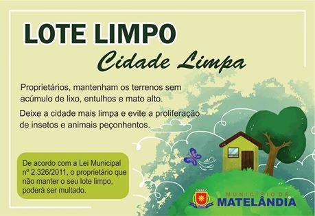 Município de Matelândia desenvolve campanha de conscientização