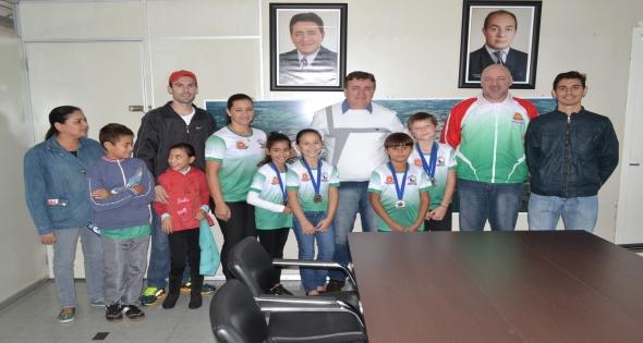 Medalhistas visitam Prefeito Municipal