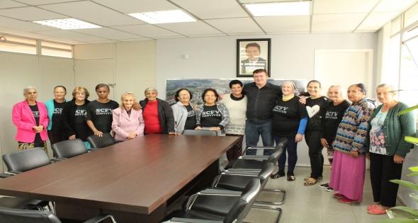 Visita especial do grupo de idosos atendidos pelo SCFV