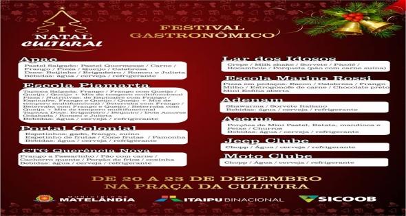 I Natal Cultural de Matelândia Gastronomia