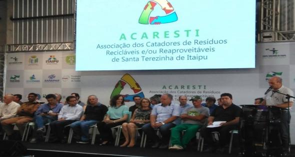 Assinatura convênio firmado entre Itaipu Binacional e Acaresti