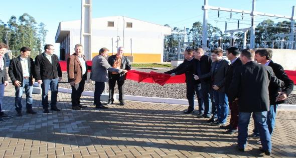 Inauguração da Subestação e linha de distribuição em alta tensão