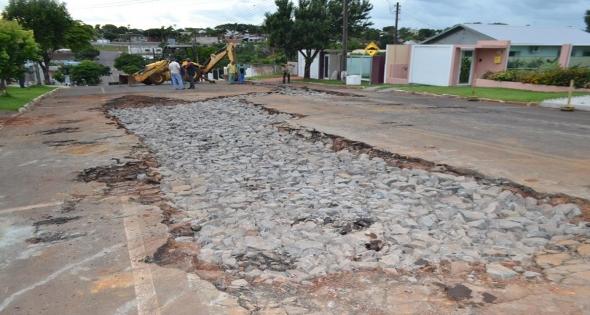Avenida Getúlio Vargas recebe reparos