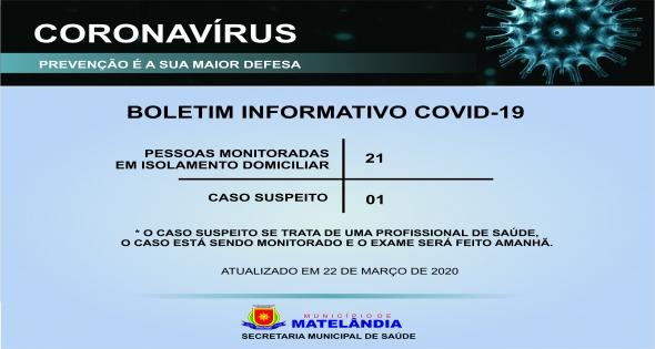 Boletim Covid19 22 de março