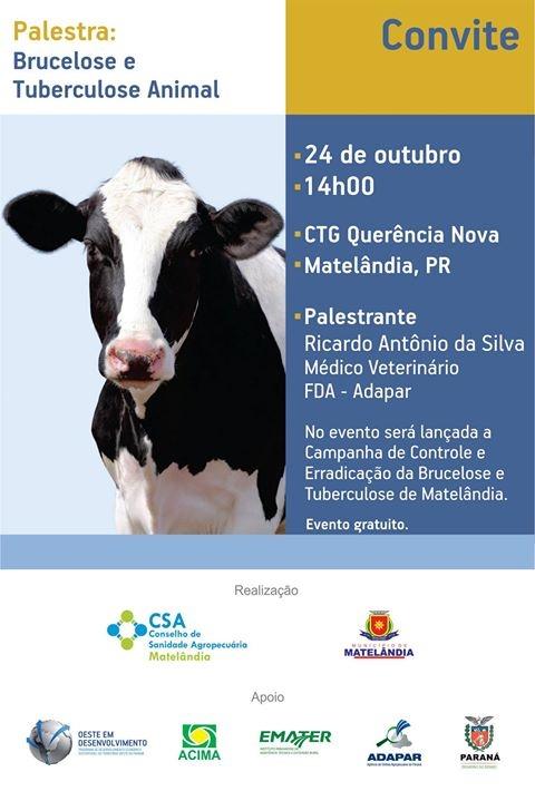 Palestra sobre Brucelose e Tuberculose Animal