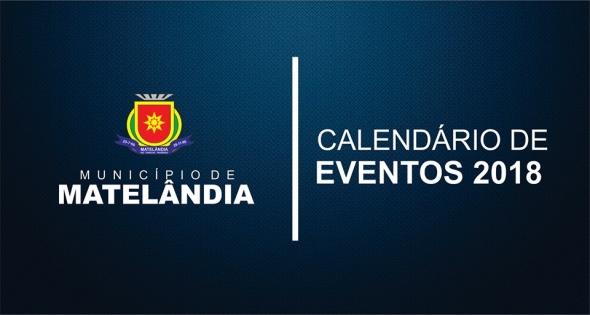 Calendário Anual de Eventos para 2018