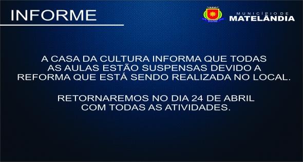 Informe Casa da Cultura