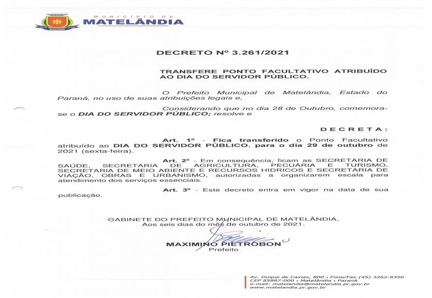 Decreto 3.261-2021