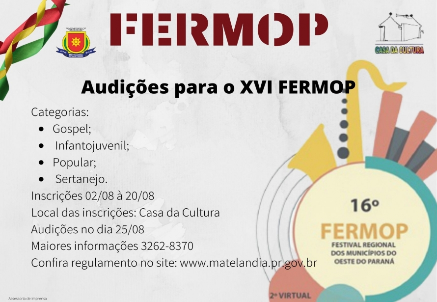 FERMOP - Regulamento