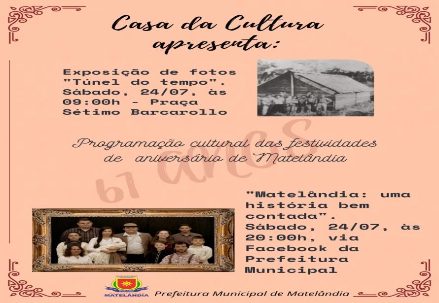 Programação Cultural das festividades de Aniversário de Matelândia
